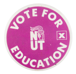 Vote for Education Cause Button Museum