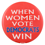 When Women Vote Cause Button Museum
