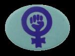 Women Power Fist Cause Busy Beaver Button Museum