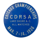 CDRSA Chicago Championships 1936 Chicago Button Museum