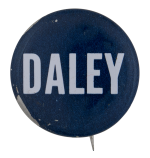 Daley Dark Blue Chicago Button Museum