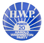 Harold Washington Party Chicago Button Museum