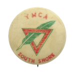 YMCA South Shore Red with Green Chicago Button Museum