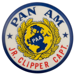 Pan Am Jr Clipper Capt Club Busy Beaver Button Museum