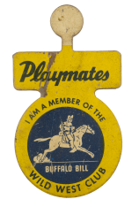 Playmates Wild West Club Club Busy Beaver Button Museum