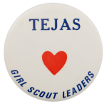 Tejas Girl Scout Leaders Club Busy Beaver Button Museum
