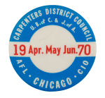 Carpenters District Council Club Button Museum