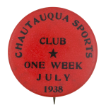 Chautauqua Sports Club Club Button Museum