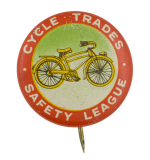 Cycle Trades Safety League Club Button Museum