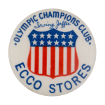 Ecco Stores Olympic Champions Club Club Button Museum