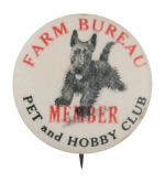 Farm Bureau Pet and Hobby Club Club Button Museum