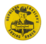 Hopalong Cassidy's Tenderfoot Club Button Museum