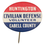 Huntington Civillian Defense  Club Button Museum