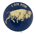 I Am for Buffalo Blue Club Button Museum