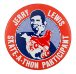 Jerry Lewis Skate-a-thon Participant Club Button Museum