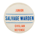 Junior Civilian Defense Club Button Museum