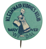 Kleenmaid Kiddies Klub Club Button Museum