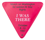 March on Washington for Lesbian & Gay Rights Club Button Museum