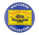 Matchbox Collector Blue Club Button Museum