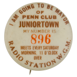 Penn Club Juniortown Club Button Museum