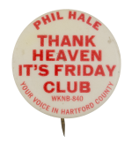 Phil Hale WKNB Club Button Museum