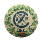 Railroad Clerks Union 1939 Club Button Museum