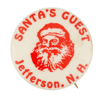 Santa's Guest Jefferson Club Button Museum