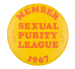 Sexual Purity League Club Button Museum