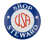 Shop Steward Club Button Museum