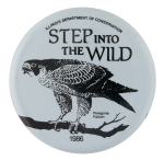 Step Into the Wild Peregrine Falcon Club Button Museum