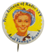 Fran Allison of Radio and TV Entertainment Busy Beaver Button Museum
