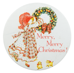Merry Merry Christmas Holly Hobbie Entertainment Busy Beaver Button Museum