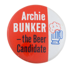 Archie Bunker Beer Candidate Beer Button Museum