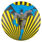 Batman Yellow and Black Stripes Entertainment Button Museum