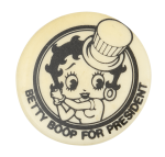 Betty Boop for President Entertainment Button Museum