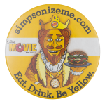 Burger King Simpsonizeme Entertainment Button Museum
