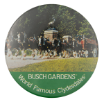 Busch Gardens World Famous Clydesdales Entertainment Button Museum