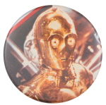 C-3PO Star Wars Entertainment Button Museum