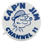 Capn Jim Channel Eleven Entertainment Button Museum