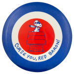 Curse You Red Baron with Snoopy Entertainment Button Museum