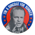 Dingbat For Bunker Entertainment Button Museum