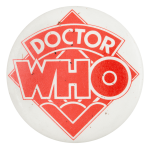 Doctor Who Red Entertainment Button Museum
