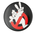 Ghostbusters II Black Entertainment Button Museum