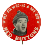 Red Buttons Winter Hat Entertainment Busy Beaver Button Museum