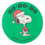 Ho Ho Ho Snoopy Entertainment Button Museum