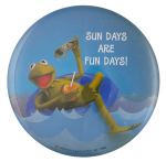 Kermit the Frog Sun Days Entertainment Busy Beaver Button Museum