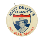 Matt Dillon's Favorite Entertainment Button Museum