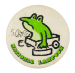 S. Gross National Lampoon Entertainment Busy Beaver Button Museum