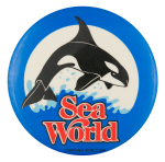 Sea World Shamu Entertainment Button Museum