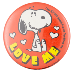 Snoopy Love Me Entertainment Busy Beaver Button Museum